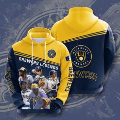 MLB Milwaukee Brewers 3D Hoodie V9