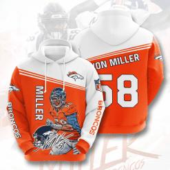 NFL Denver Broncos 3D Hoodie V9