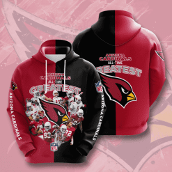 NFL Arizona Cardinals 3D Hoodie V25