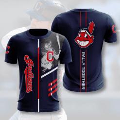 MLB Cleveland Indians 3D T-Shirt V1
