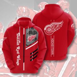 NHL Detroit Red Wings 3D Hoodie V1