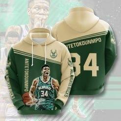 NBA Milwaukee Bucks 3D Hoodie V1