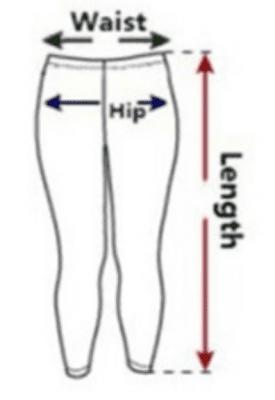 Women Leggings Sizing Chart