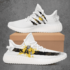 NCAA Adrian College Bulldogs Yeezy Boost White Sneakers V1