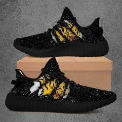 NCAA Arkansas Pine Bluff Golden Lions Yeezy Boost Black Sneakers