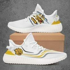 NCAA Arkansas Pine Bluff Golden Lions Yeezy Boost White Sneakers V3