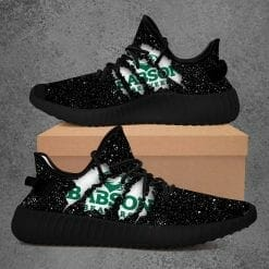 NCAA Babson Beavers Yeezy Boost Black Sneakers