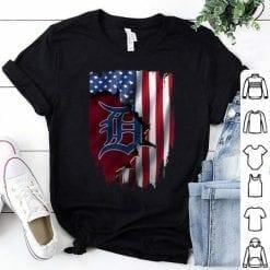 MLB Detroit Tigers T-Shirt American Flag