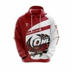 NCAA Temple Owls 3D Hoodie V1
