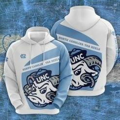 NCAA North Carolina Tar Heels 3D Hoodie V1