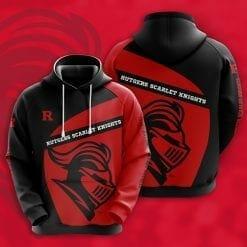 NCAA Rutgers Scarlet Knights 3D Hoodie V1