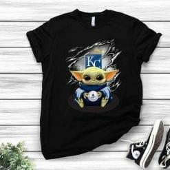 MLB Kansas City Royals T-Shirt Baby Yoda