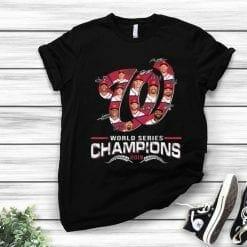 MLB Washington Nationals T-Shirt World Series Champions 2019 Signatures