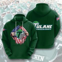 NCAA Tulane Green Wave 3D Hoodie V3