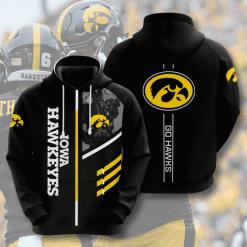 NCAA Iowa Hawkeyes 3D Hoodie V2