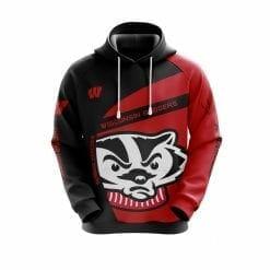 NCAA Wisconsin Badgers 3D Hoodie V1