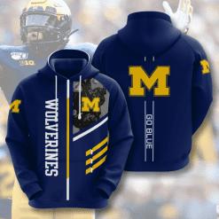 NCAA Michigan Wolverines 3D Hoodie V2