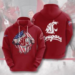 NCAA Washington State Cougars 3D Hoodie V3