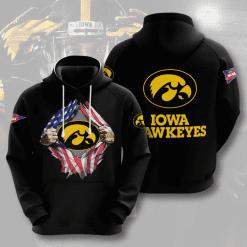 NCAA Iowa Hawkeyes 3D Hoodie V3