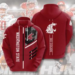 NCAA Washington State Cougars 3D Hoodie V2