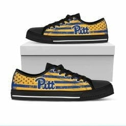 NCAA Pittsburgh Panthers Low Top Shoes
