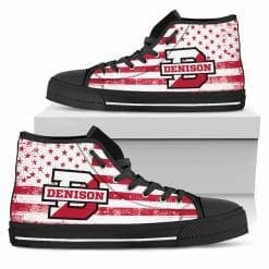 NCAA Denison University Big Red High Top Shoes