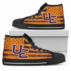 NCAA Evansville Purple Aces High Top Shoes