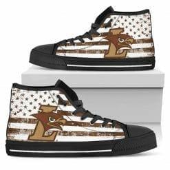 NCAA Lehigh Mountain Hawks High Top Shoes