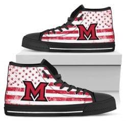 NCAA Miami University RedHawks High Top Shoes