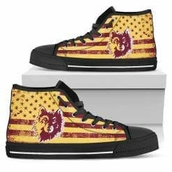 NCAA Northern State University Wolves High Top Shoes