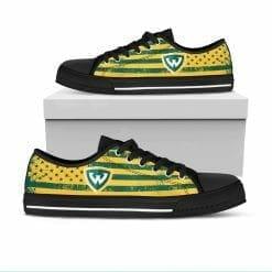 NCAA Wayne State Warriors Low Top Shoes