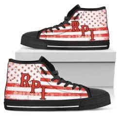 NCAA Rensselaer Polytechnic Institute Engineers High Top Shoes