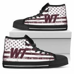 NCAA West Texas A&M Buffaloes High Top Shoes