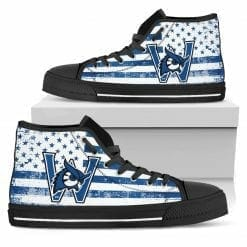 NCAA Westfield State Owls High Top Shoes