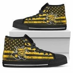 NCAA Wichita State Shocker High Top Shoes