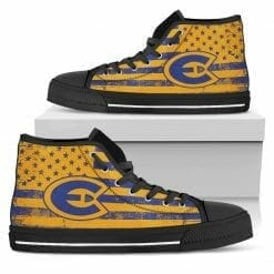 NCAA Wisconsin Eau Claire Blugolds High Top Shoes