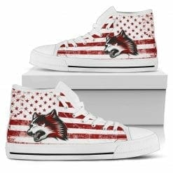 NCAA Indiana University East Red Wolves High Top Shoes