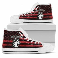 NCAA Northeastern Huskies High Top Shoes