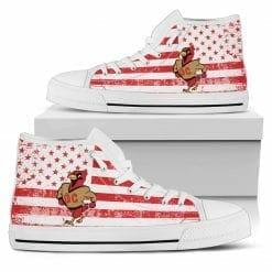 NCAA Otterbein College Cardinals High Top Shoes
