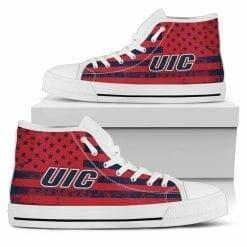 NCAA UIC Flames High Top Shoes