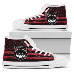 NCAA Western Oregon Wolves High Top Shoes