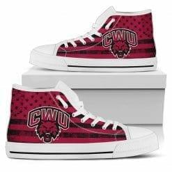 NCAA Central Washington Wildcats High Top Shoes