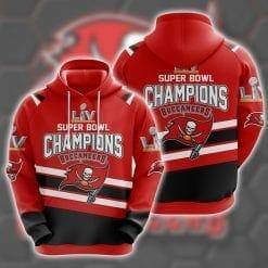 NFL Tampa Bay Buccaneers 3D Hoodie Super Bowl LV