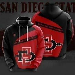 NCAA San Diego State Aztecs 3D Hoodie V1