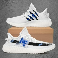 NCAA Air Force Falcons Yeezy Boost White Sneakers V1