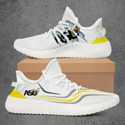 NCAA Alabama State Hornets Yeezy Boost White Sneakers V3