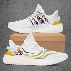 NCAA Albany Great Danes Yeezy Boost White Sneakers V3