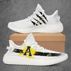 NCAA Appalachian State Mountaineers Yeezy Boost White Sneakers V1