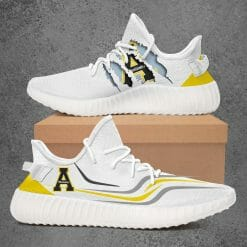 NCAA Appalachian State Mountaineers Yeezy Boost White Sneakers V3