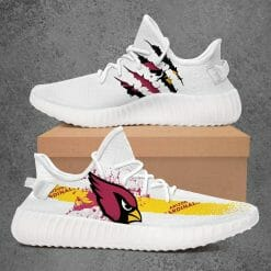 NFL Arizona Cardinals Yeezy Boost White Sneakers V1